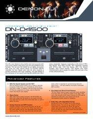 Denon DN-D4500 dual CD / MP3 player