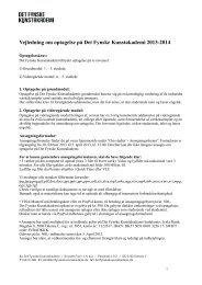 Vejledning optagelse 2013-2014 - Det Fynske Kunstakademi
