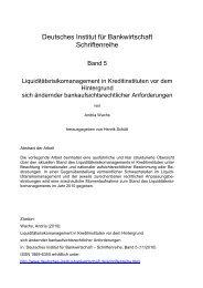 Liquiditätsrisikomanagement in Kreditinstituten vor dem Hintergrund ...