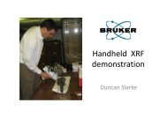 Handheld XRF demonstration