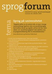 Sprog på universitetet - Aarhus Universitetsforlag