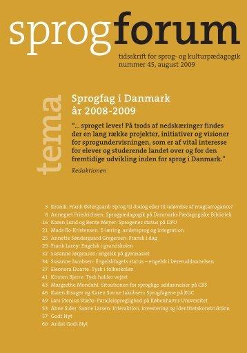 tem a Sprogfag i Danmark år 2008-2009 - Aarhus Universitetsforlag