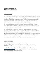 Vejledning for bidragydere til Vejledning for bidragydere til ...