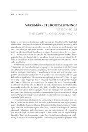 "VARUMÄRKETS KORTSLUTNING? ""STOCKHOLM THE CAPITAL ..."