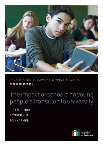 The impact of schools on young people's transition to university
