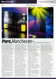 Pure Night Magazine - Funktion-One