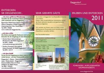 Folder_Erleben und Entdecken 2011_WEB - Deggendorf