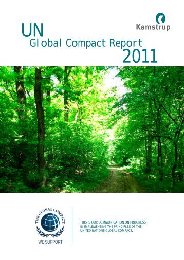 Global Compact Report 2011 UN - Kamstrup A/S