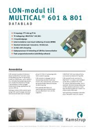 Datablad - Kamstrup A/S