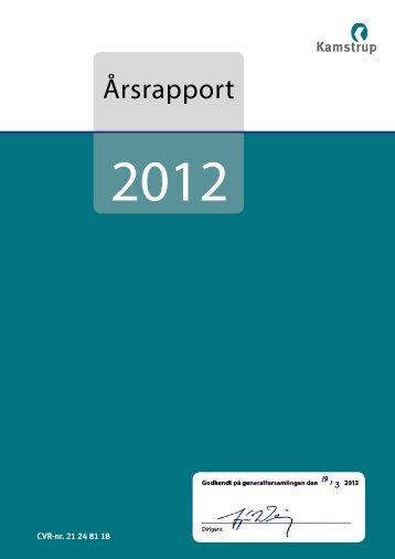 Årsrapport 2012 - Kamstrup A/S