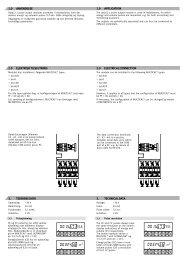 2.0 elektrisk tilslutning 3. tekniske data 1.0 ... - Kamstrup A/S