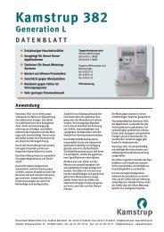 Datenblatt - Kamstrup A/S