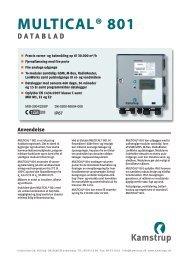multical® 801 datablad - Kamstrup A/S