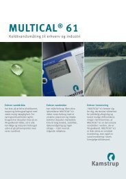 MULTICAL® 61 - Kamstrup A/S