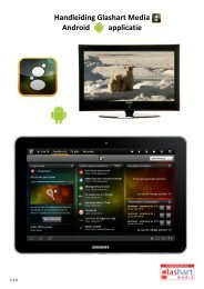 Handleiding Glashart Media Android applicatie