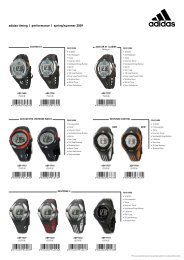 adidas timing   performance   spring/summer 2009 - De Greeve
