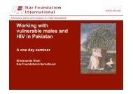 Why work with - Naz Foundation International