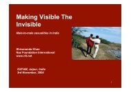 Making visible the invisible - Naz Foundation International