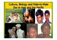 Culture, Biology and Male-to-Male Sex in Asia and the Pacific