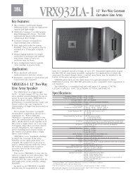 Key Features: Application: VRX932LA-1 12