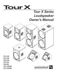 Tour X Series Loudspeaker Owner's Manual - Electro-Voice