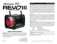 Revo III - American DJ