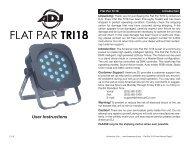 Flat Par Tri18 - American DJ