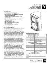 ZxA1-90 Engineering Data Sheet 410 KB | 21 March ... - Electro-Voice