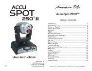 Accu Spot 250 2.indd - Pro Sound & Lighting