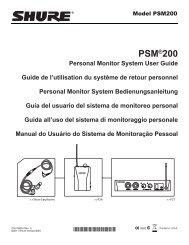 Shure PSM200 User Guide - Full Compass