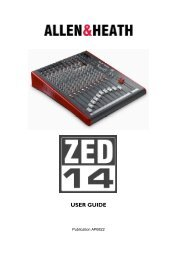 Manual for Allen & Heath ZED-14 USB Mixing Console