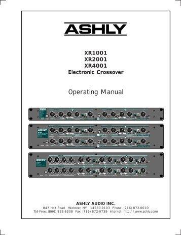 Operating Manual - Pro Sound & Lighting