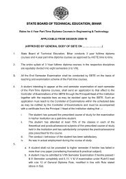 General Rules for 4 Year Part-Time Diploma in ... - SBTE Home Page