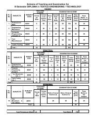 Scheme of Teaching and Examination for III ... - SBTE Home Page