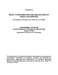 right to information and obligations of public ... - SBTE Home Page
