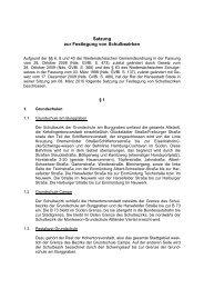 Satzung zur Festlegung von Schulbezirken - Stadt Stade