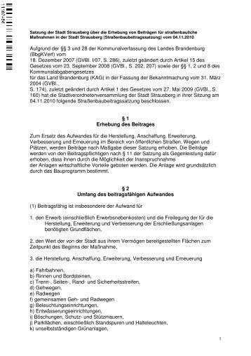 vom 18. Dezember 2007 (GVBl. I/07, S. 286) - Stadt Strausberg