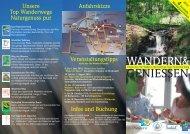 WANDERN& GENIESSEN - Wadern