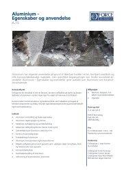 Aluminium - Egenskaber og anvendelse - F.wood-supply.dk