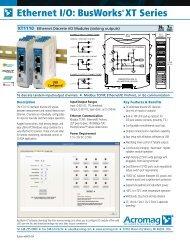 Ethernet I/O: BusWorks® XT Series - F.wood-supply.dk