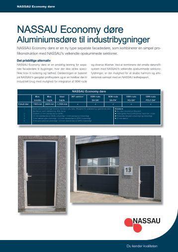 datablad for NASSAU Economy døre - NASSAU Door A/S