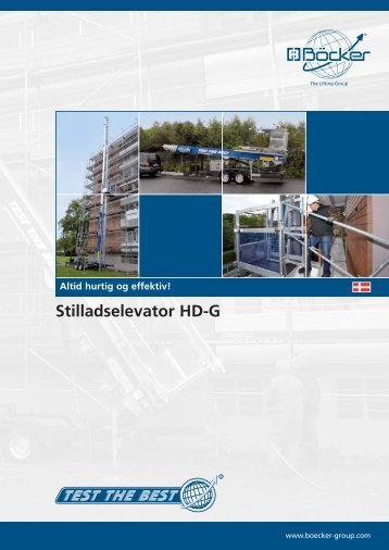 Stilladselevator HD-G - F.wood-supply.dk