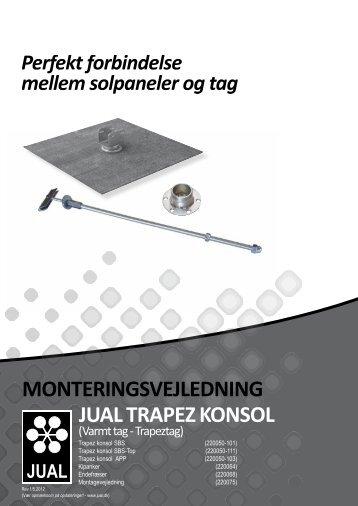Monteringsvejledning jUAl trApez konsol - F.wood-supply.dk