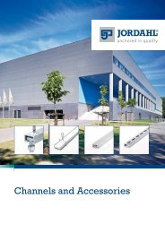 JORDAHL Channels and Accessories - Pretec