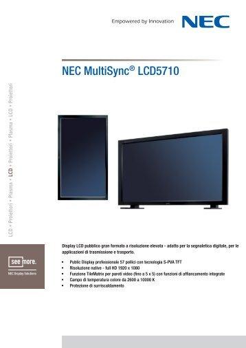 Manufacturer Data Sheet Nec MultiSync LCD5710 - All Video ...