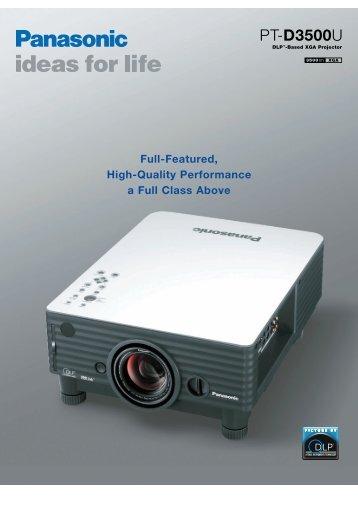 PT-D3500U - All Video System S.r.l.