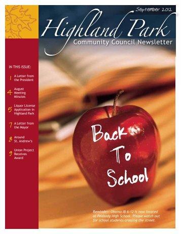 HPCC September 2012 - Highland Park