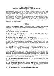 Satzung Aenderung Friedhofsordnung Maerz 2012