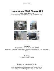 Incast Anno 2009 Finans APS - konkurser.dk