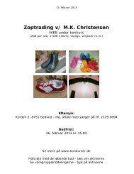 Zoptrading v/ M.K. Christensen - konkurser.dk